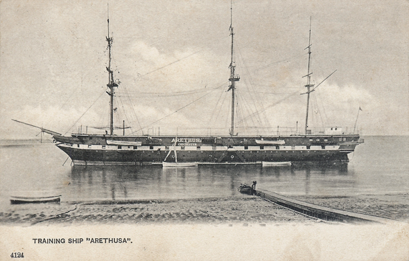 Ingress abbey wharf and view towards swanscombe marshes for Ts arethusa pictures