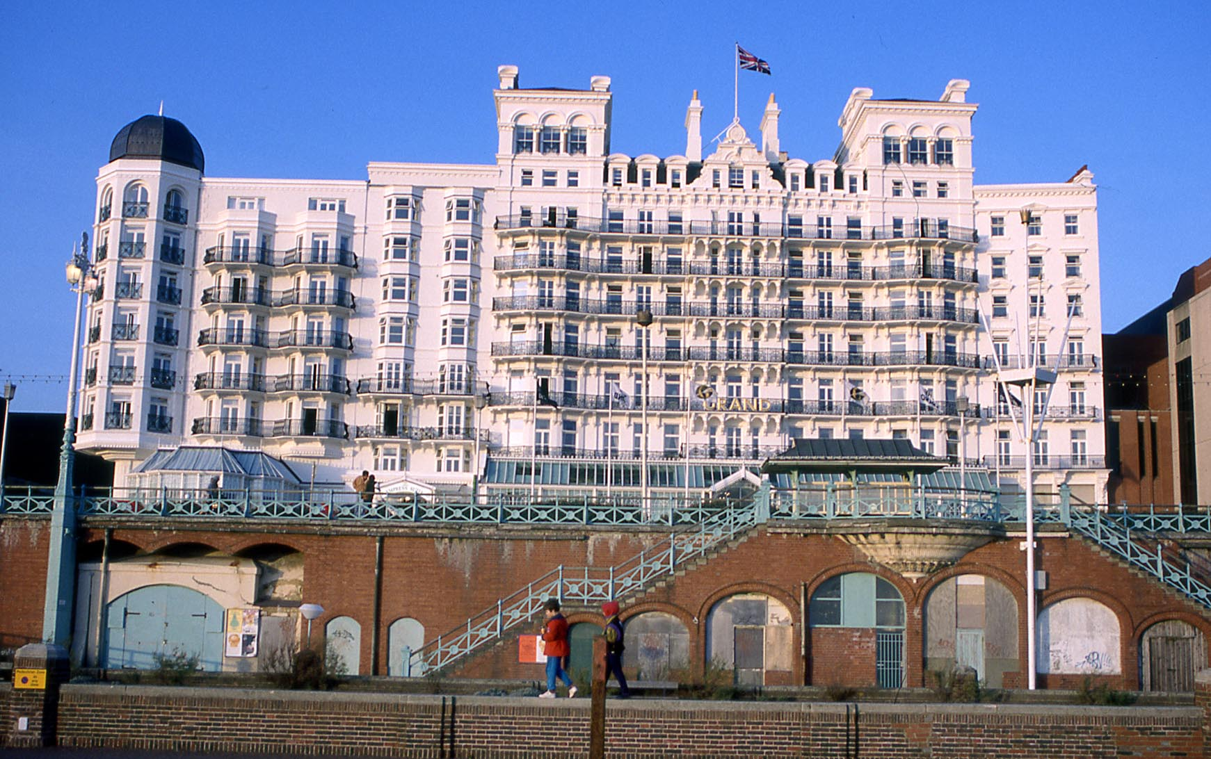 The Palace Pier Seafront And Town Brighton From The