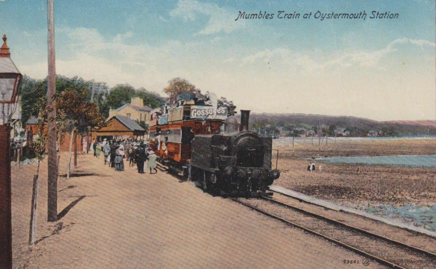 Mumbles%20Train%20at%20Oystermouth%20Station. - The Swansea & Mumbles Railway